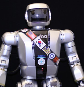 Photo of Drexel's  Jaemi Hubo humanoid robot