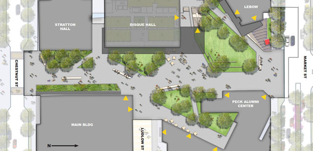 Rendering of the Perelman Plaza