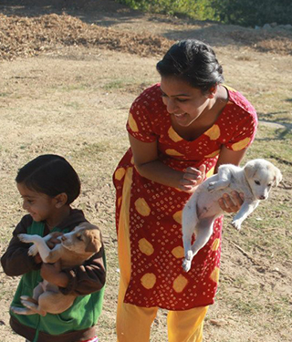 Drexel student Rina Patel in India