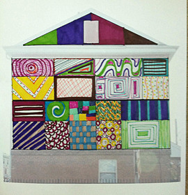 Artwork of the concept of home by a participant in the Porch Light Initiative at 11th Street Family Health Services