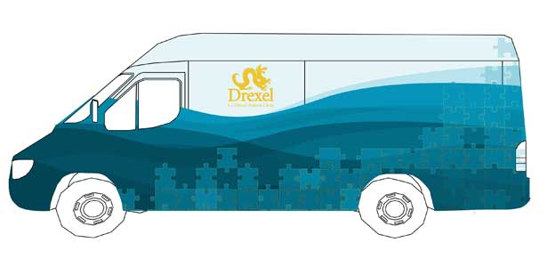 A preliminary design concept by a group of Drexel students for the A.J. Drexel Autism institute's mobile clinic