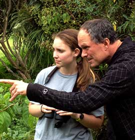 Dr. Sean O'Donnell at his field research site in Monteverde, Costa Rica with field assistant Drexel University undergraduate student Emily Johnson