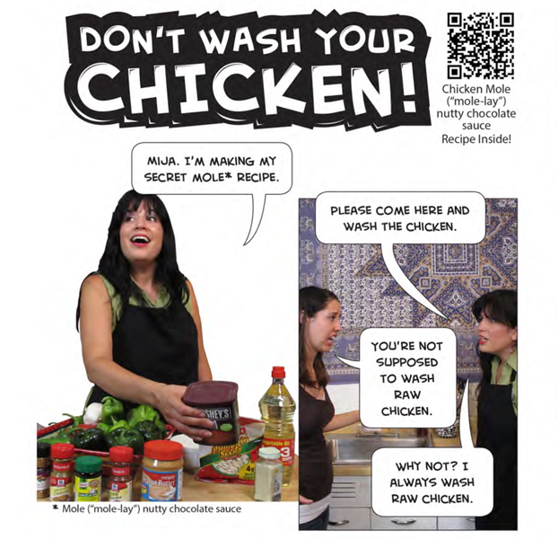 Photonovellas developed for the Dont Wash Your Chicken Campaign
