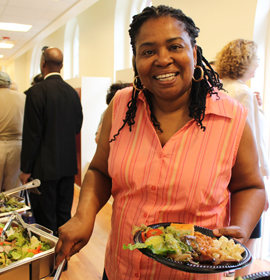 More than 80 people attended the community dinner on July 1