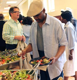 Community dinners at the Dornsife Center are free and open to the public.