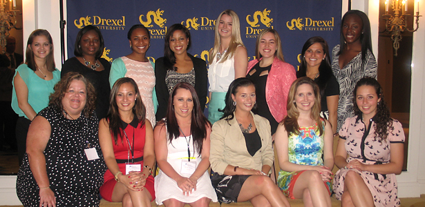 Fourteen nursing students celebrated their achievements as the first cohort in a leadership program.