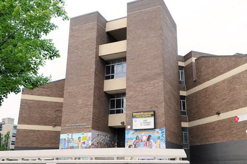 Image of the exterior of the University City High School