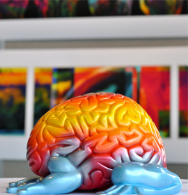 Jumping Brain toy designed by toy-maker Emilio Garcia