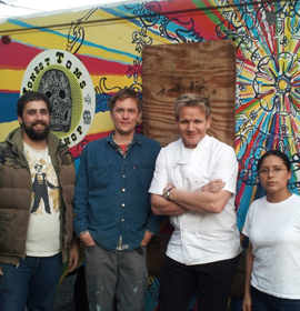 Chef Ramsay visited Honest Tom's Taco Truck run by Drexel alum Tom McCusker