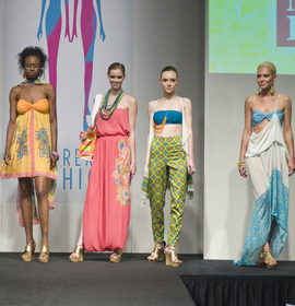 A student's swimwear collection was featured in last year's show