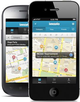 Image of Involvio on the iPhone and the Android phone