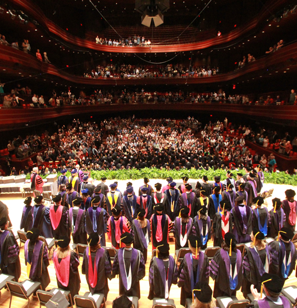 Commencement ceremonies at the Kimmel Center