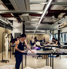 Fashion design students prepare for show