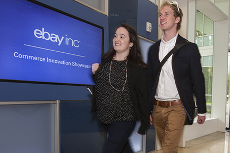 Students of the Close School at eBay headquarters