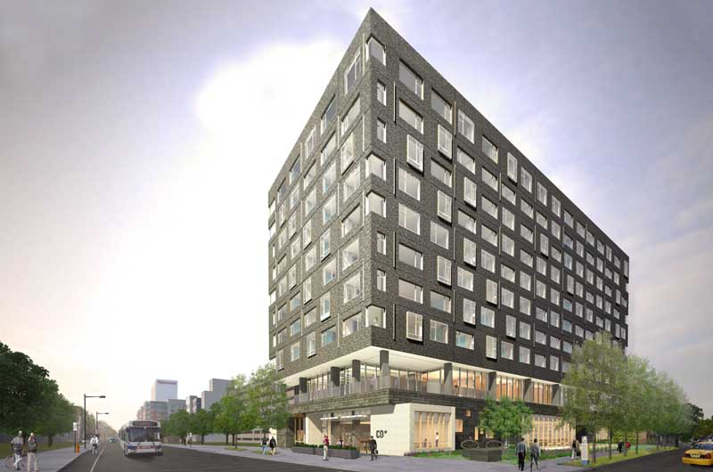 Rendering of The Study Hotel in University City