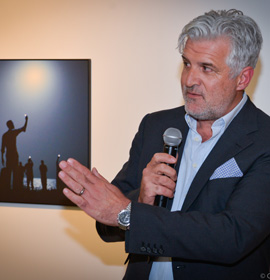 Gary Knight discusses the World Press Photo 2014 winner by John Stanmeyer. Photo credit: Conrad Louis-Charles.