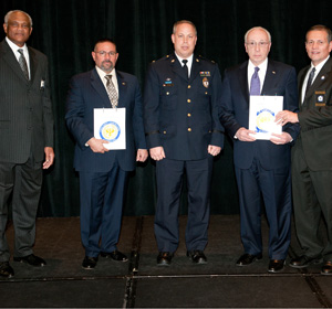 Drexel Police and Public Safety representatives accept CALEA recognition on University's behalf