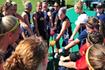 Field Hockey huddle