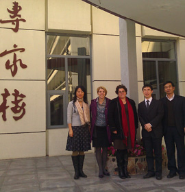Drexel representatives from a previous trip to Nankai University