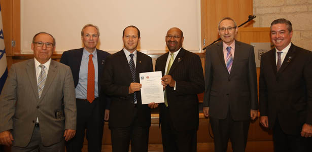 Signing of research agreement in Jerusalem