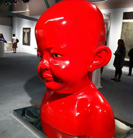 Sculpture by artist Jiang Jie
