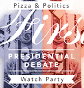 Pizza and Politics Debate Watch Party