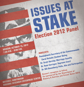 Issues at Stake: Election Panel at Drexel