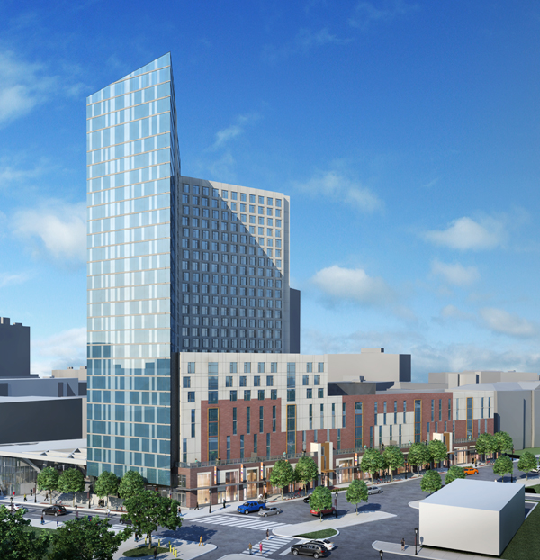 Rendering of Drexel's new mixed-use development at Lanaster Avenue and 34 Street
