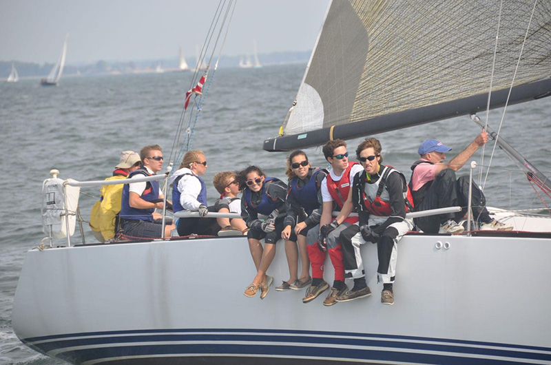 Sailing Team on a Boat