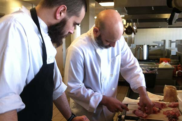 Marc Vetri and a student.