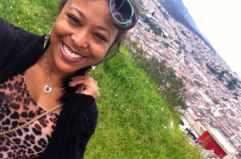 Kaila Taylor in Quito