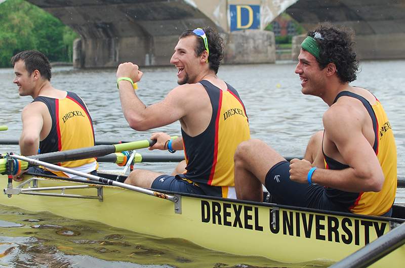 Drexel rowers celebrating