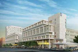 An artist's rendering of the Chestnut Street building project at Drexel Unviersity