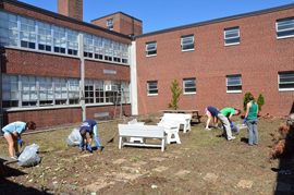 McMichael School clean up