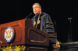 President Fry Commencement 2012