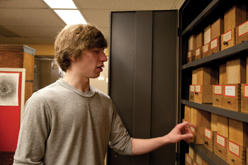 Drexel student Ian O'Malley gets hands-on experience at the Academy