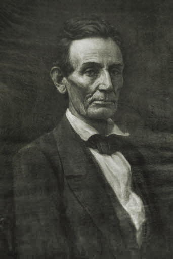 Abraham Lincoln wood carving print from The Drexel Collection