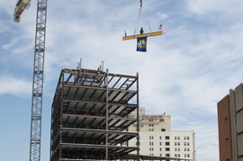 Topping out ceremony - LeBow