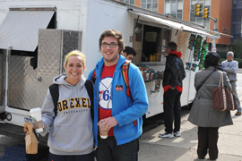 lunch trucks at Drexel
