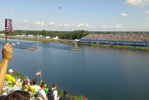 Olympic rowing scene
