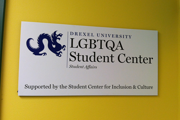 LGBTQA Student Center Sign