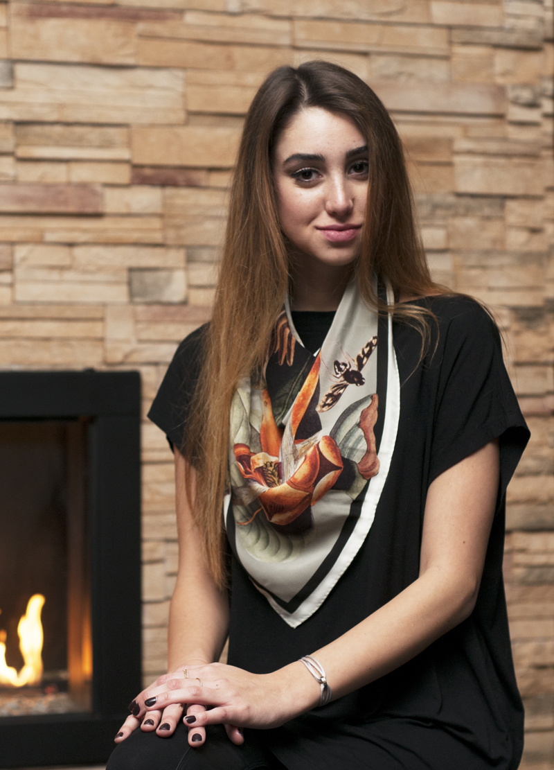The Audubon Silk Scarf was designed using the historical Audubon prints housed in the Academy of Natural Sciences of Drexel University.