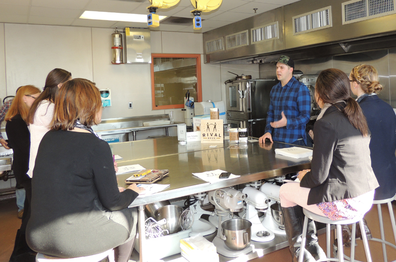 Jon Adams of Rival Bros presented a coffee tasting and discussion at the 2014 Philly Chef Conference.