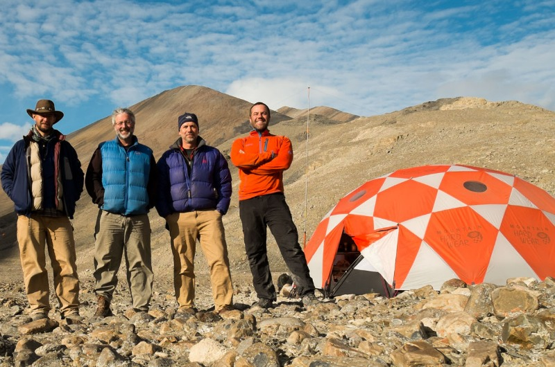 North America: Ted Daeschler (second from right) with his team on Ellesmere Island.