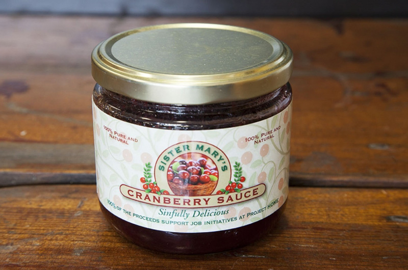 "Drexel students will help Project HOME make and jar ""Sister Mary's Sinfully Delicious Cranberry Sauce."""