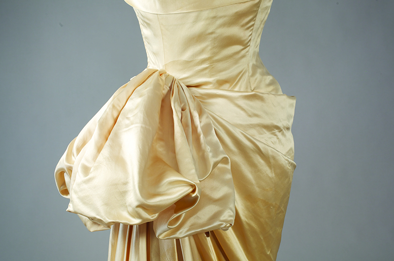 Prince Tirtoff-Romanoff, evening gown, circa 1952, USA, Gift of Mrs. Arthur E. Pew. One of about 50 items planned for a retrospective exhibit next fall, made possible by a generous gift from the Richard C. von Hess Foundation. Photograph by Will Brown.