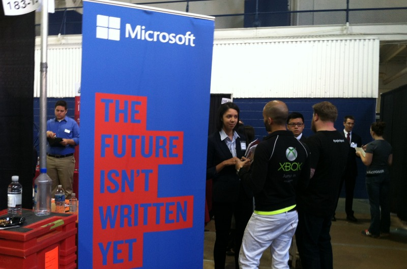 More than 220 employers were involved in the Fall Career Fair.