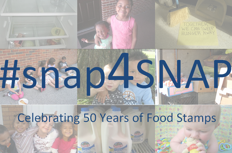The #snap4SNAP campaign beginning Oct. 30 is partly inspired by Witnesses to Hunger, and will celebrate 50 years of food stamps and their success protecting public health.