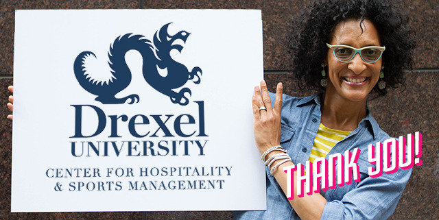 Hall visited Drexel in August to discuss the partnership and tour the facilities.