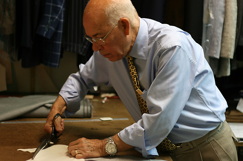 "Master tailor Nino Corvato is one of the craftsmen featured in the documentary ""Men of the Cloth."""